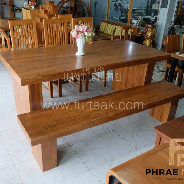 โต๊ะอาหารไม้สักโมเดิร์น