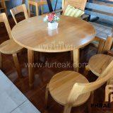 ชุดโต๊ะอาหารกลมไม้